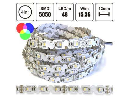 RGBW LED pásek 5050 (4in1), 48LED/m