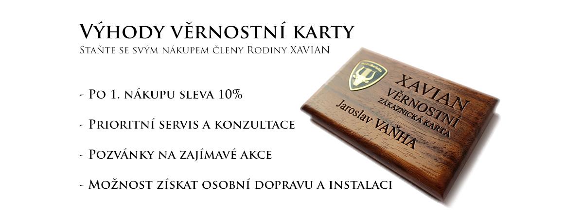 Věrnostní zákaznická karta Xavian