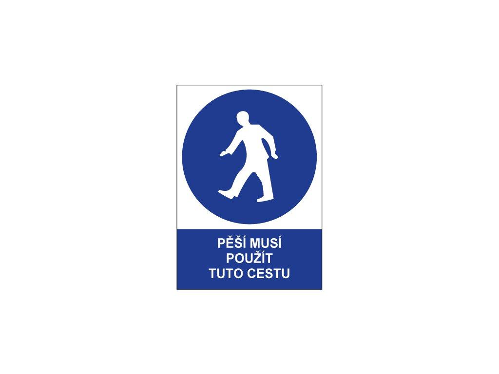 00707 Pěší musí použít tuto cestu