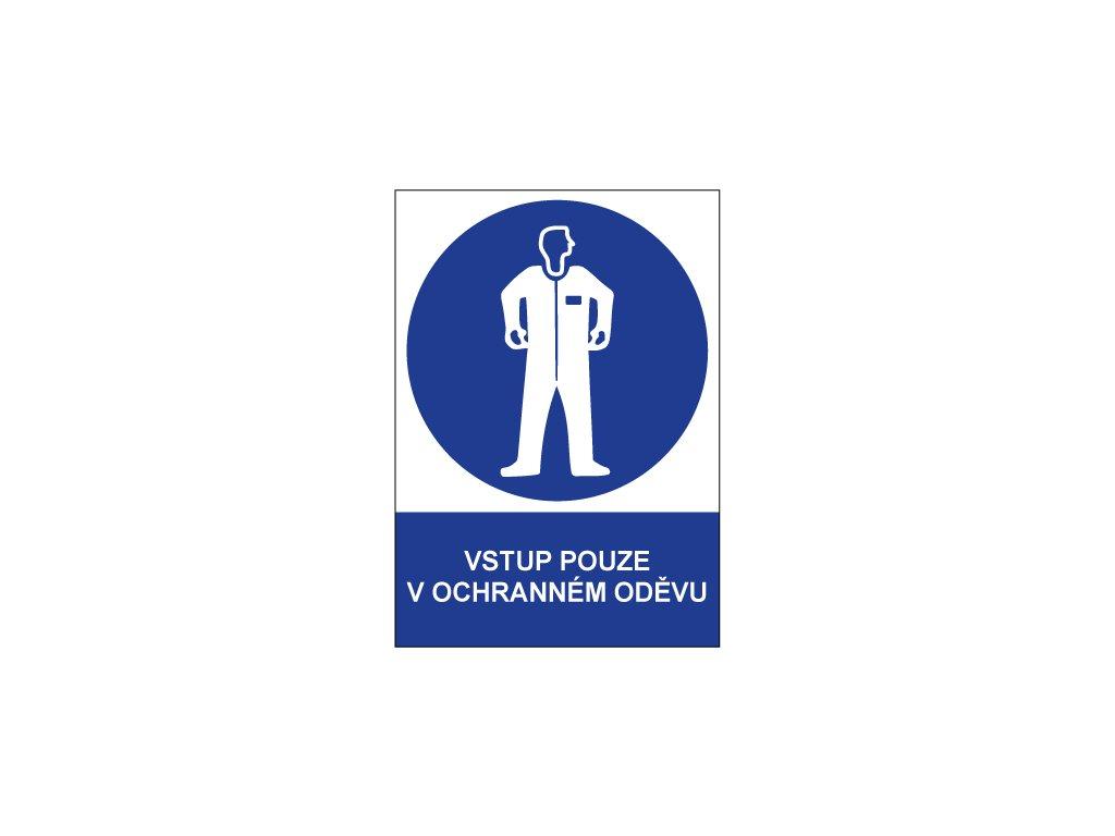 00708 Vstup pouze v ochranném oděvu