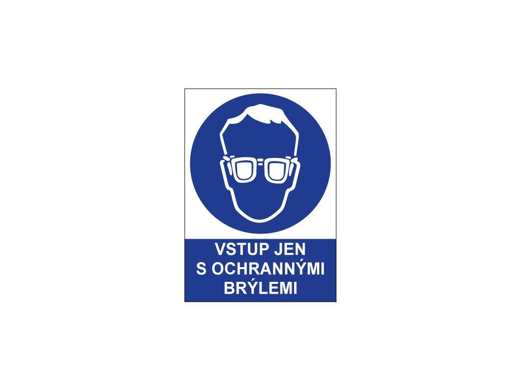 00722 Vstup jen s ochrannými brýlemi