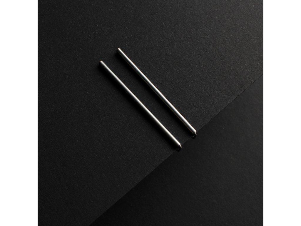 steel / earrings / long