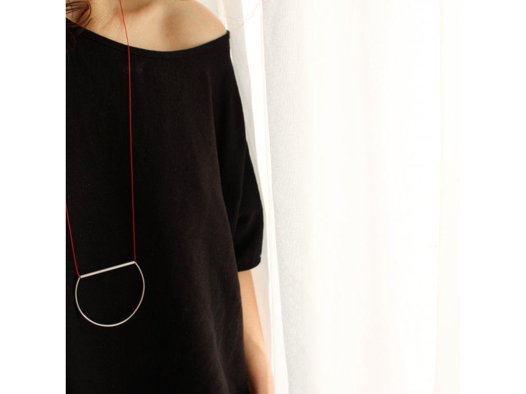 steel / necklace / circle