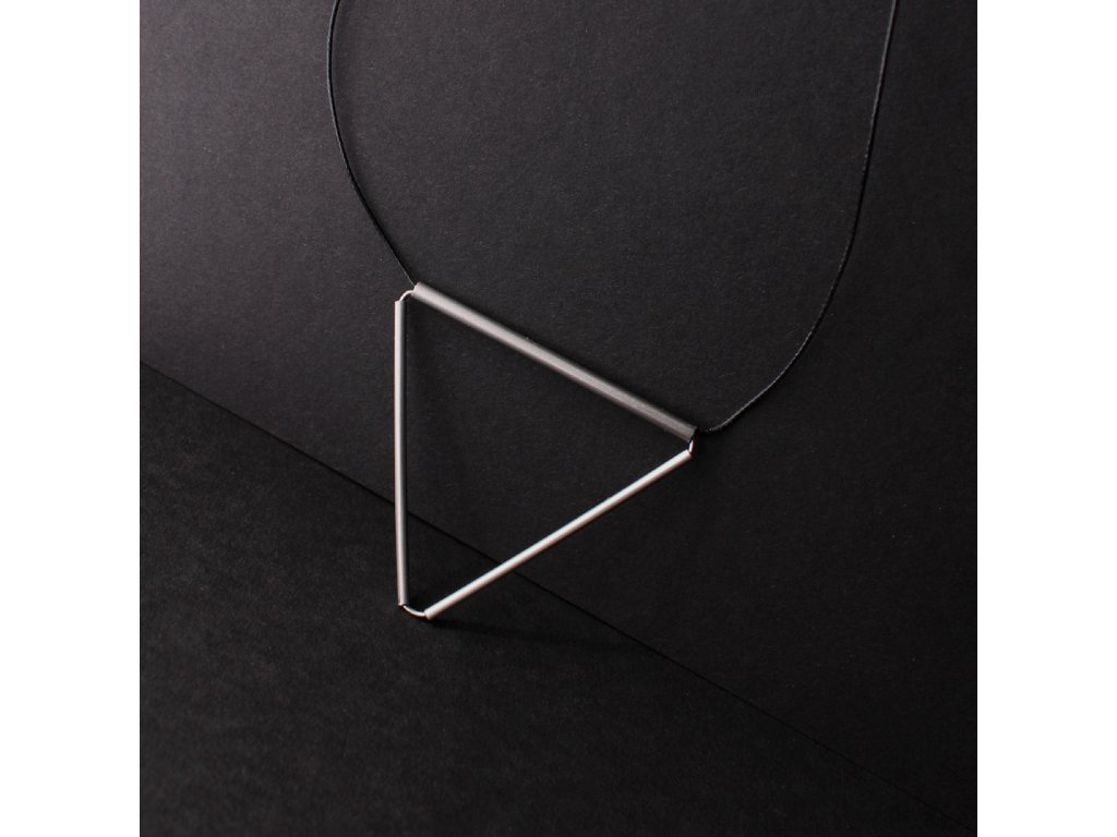 steel / necklace / triangle