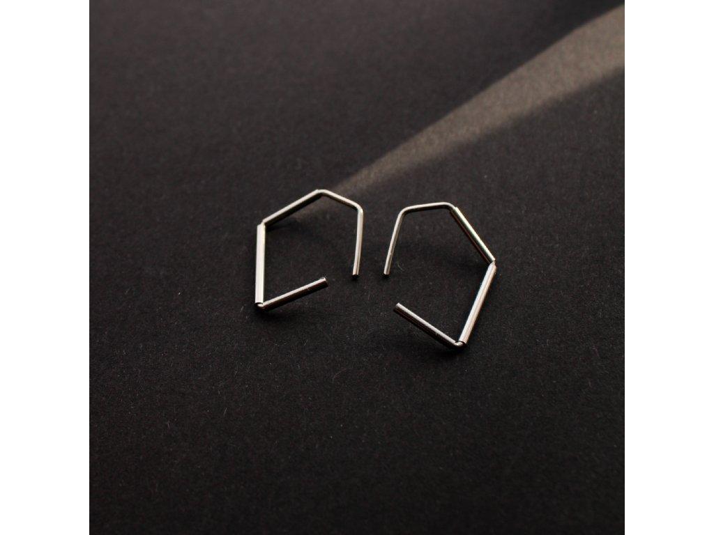 Minimalistické náušnice z nerezové oceli - nejmenší velikost