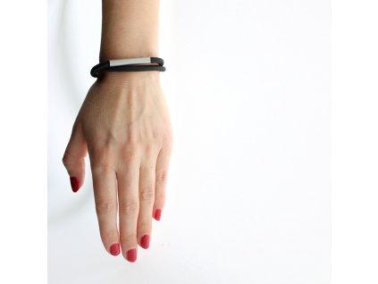 steel / bracelet / black