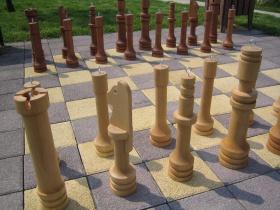 Šachovnice dlažba