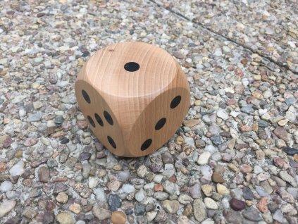 Dřevěná hrací kostka 6cm