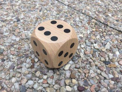 Dřevěná hrací kostka 5,4cm
