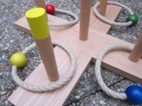 Kroužky, hod na terč - (dřevěné)
