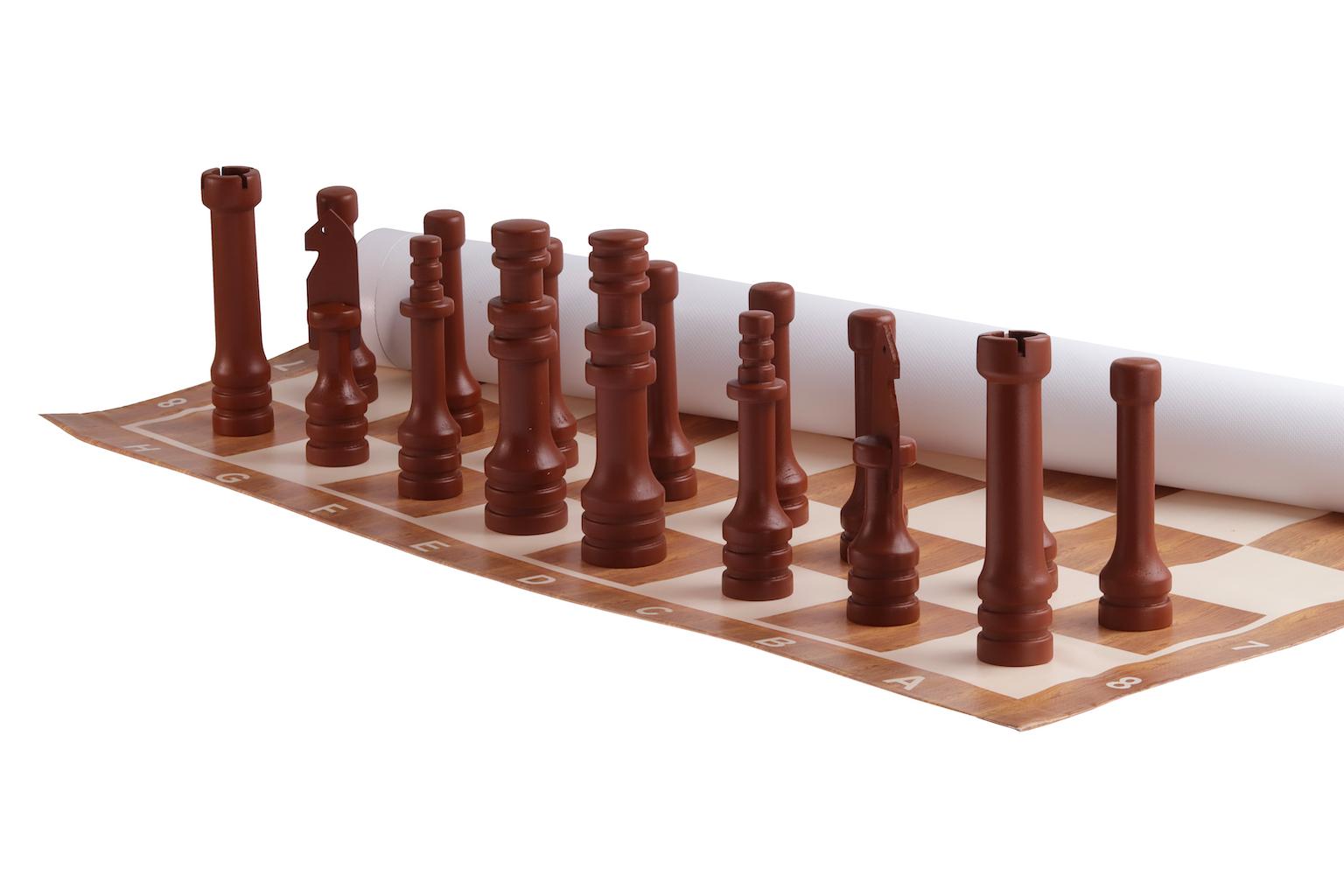 Zahradní šachy malé Hra + hrací plocha: dlažba (á 10x10cm, celkem 64ks)