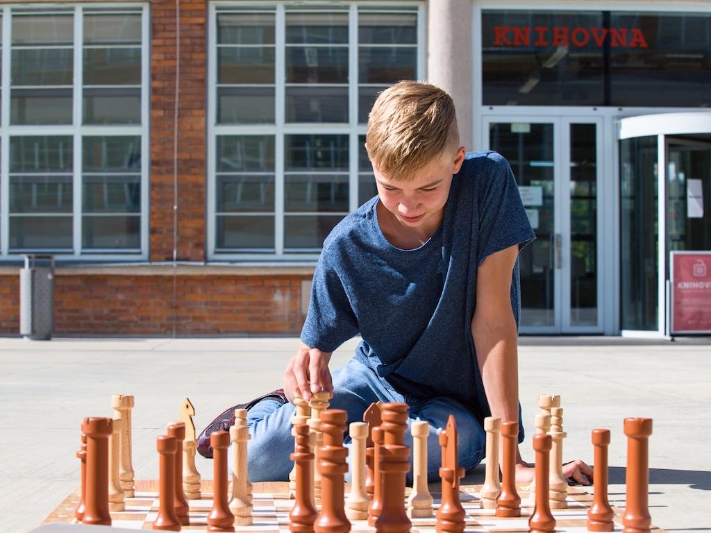 Zahradní šachy malé Hra + hrací plocha: bez hrací plochy