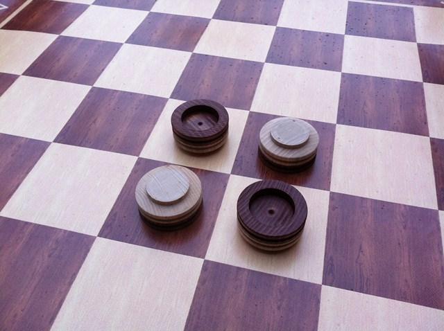 Othello - (dřevěné) Hra + hrací plocha: ubrus (120x120cm)