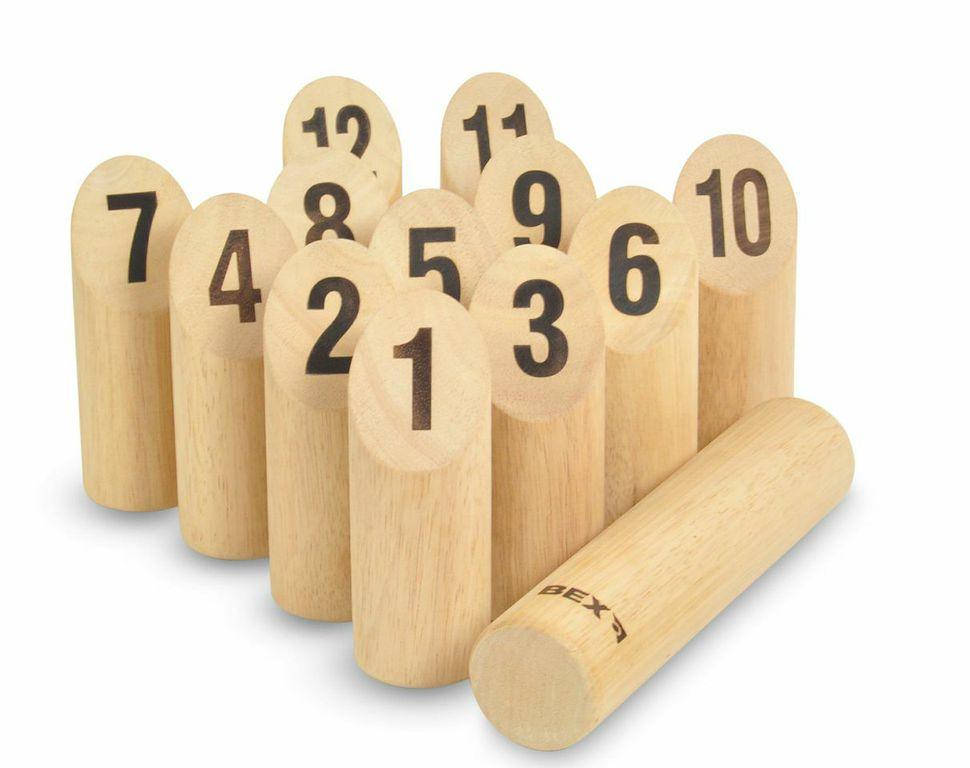 Kubb s čísly - (dřevěný)