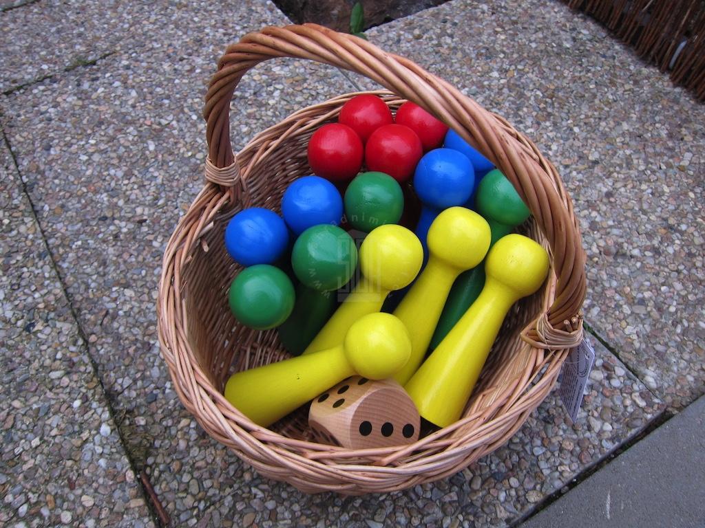 Zahradní Člověče nezlob se - 15 cm Hra +: bez hrací plochy