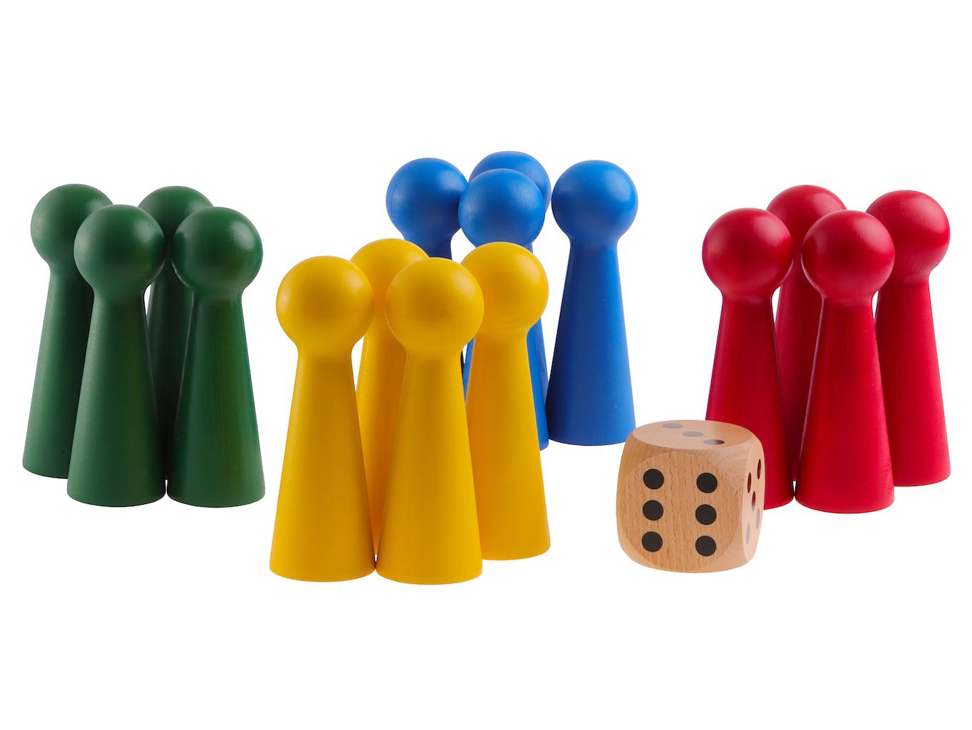 Člověče nezlob se - (dřevěné) 15cm Hra + hrací plocha: bez hrací plochy
