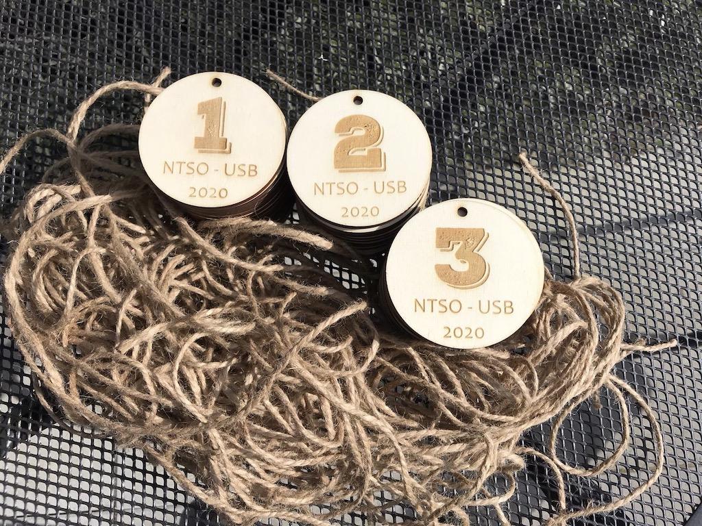 Dřevěná medaile - sada