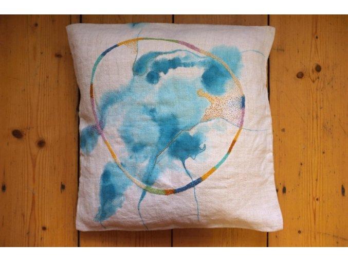 Akvarelový polštář
