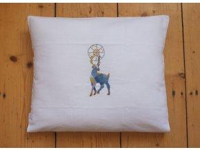 Polštář s jelenem nesoucím hvězdu