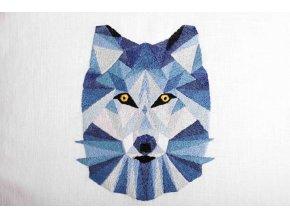 Geometrický zimní vlk - sada