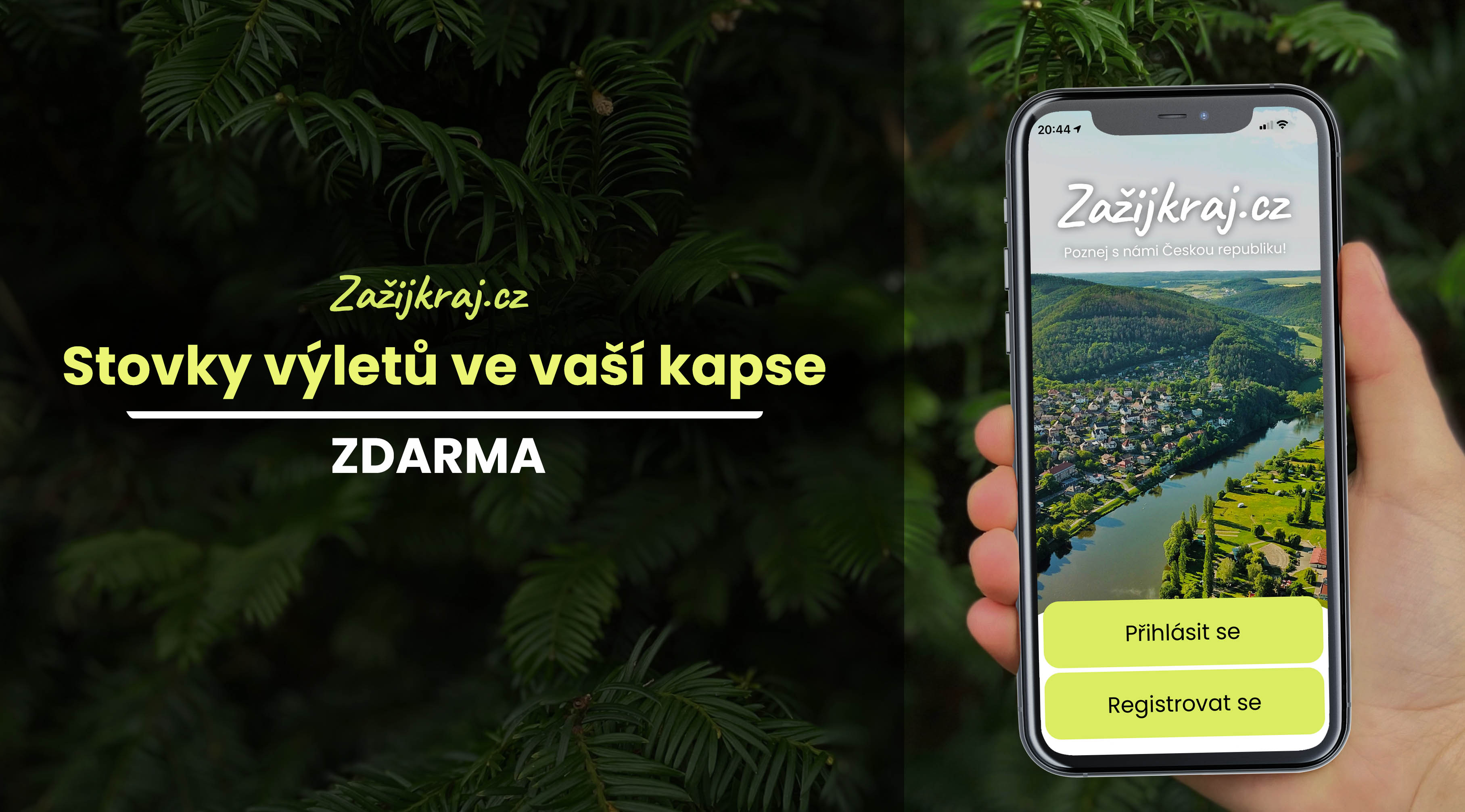 Aplikace Zažijkraj.cz - výlety do kapsy