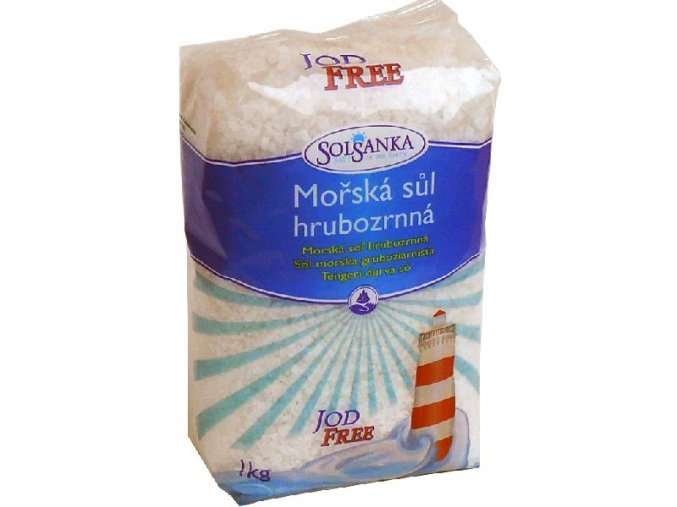 Sůl mořská hrubozrnná jod free 1kg Solsanka