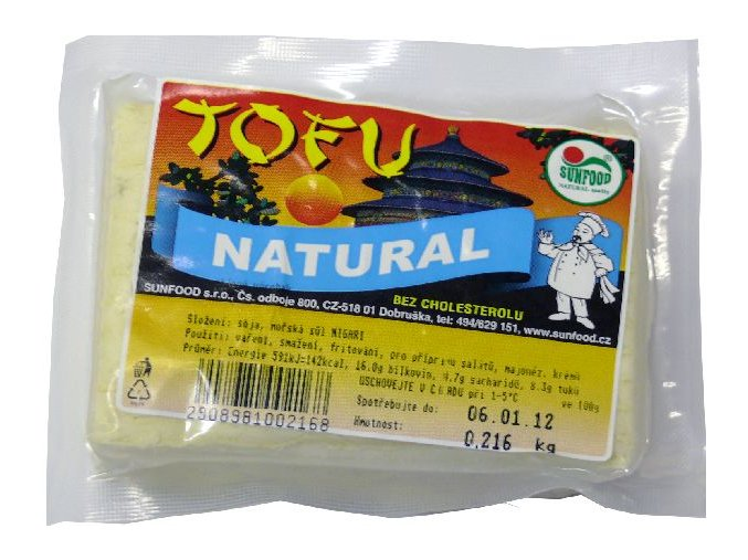 Tofu Natural ks cca 200g