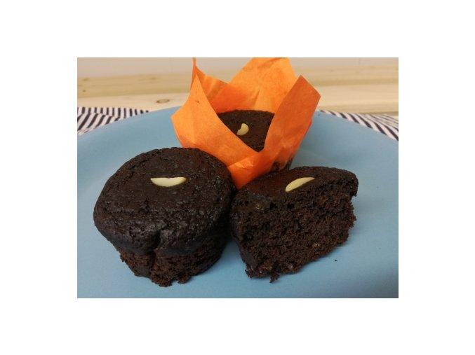bezlepkovy cizrnovy muffin s kakaem holandskeho typu