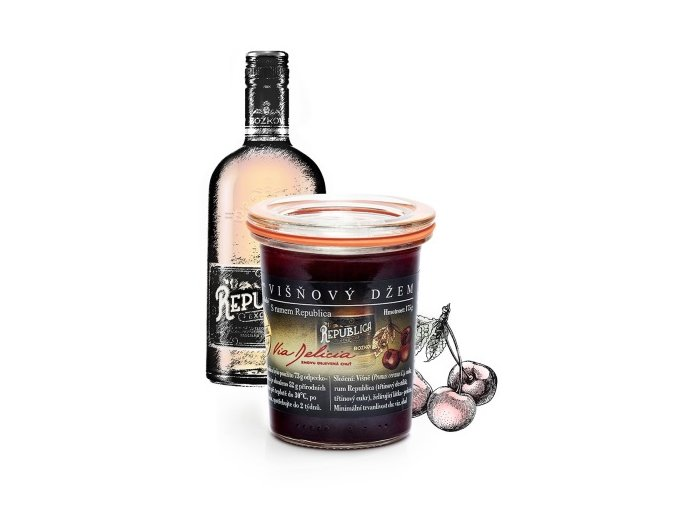 via delica džem višeň rum