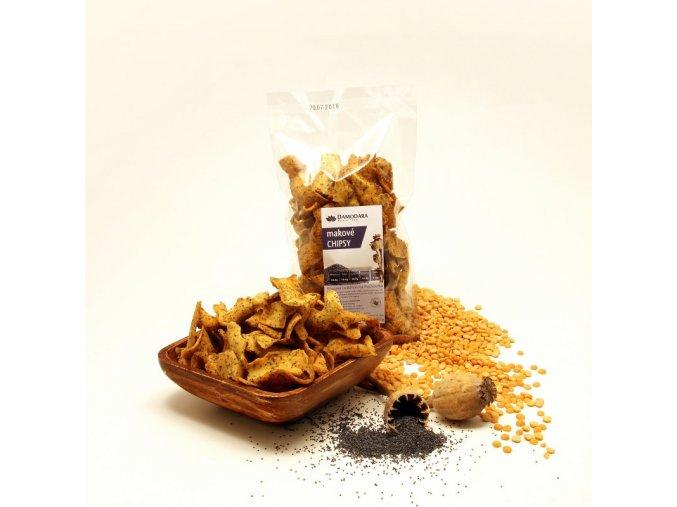 makové chipsy