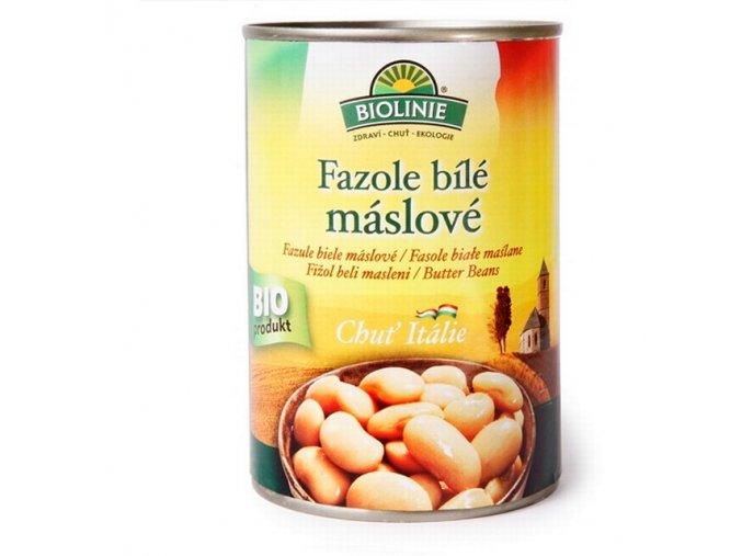 Fazole máslové bílé BIO konzerva - Biolinie 400g