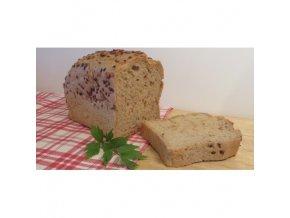 bezlepkovy chleb liska kminovy se lnenym a slunecnicovym seminkem