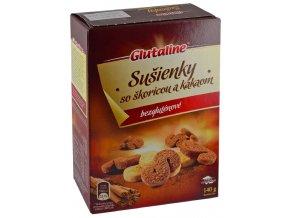 GLUTALINE bezlepkové sušenky se skořicí a kakaem 140g