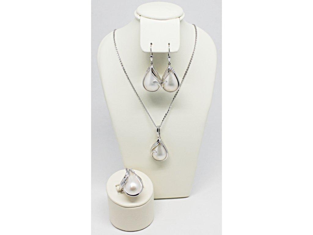 1f9a1296a Luxusní přívěsek s MABE perlou a brilianty