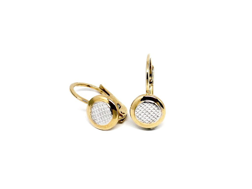 Zlaté náušnice kolečka dvojbarevné Sofie