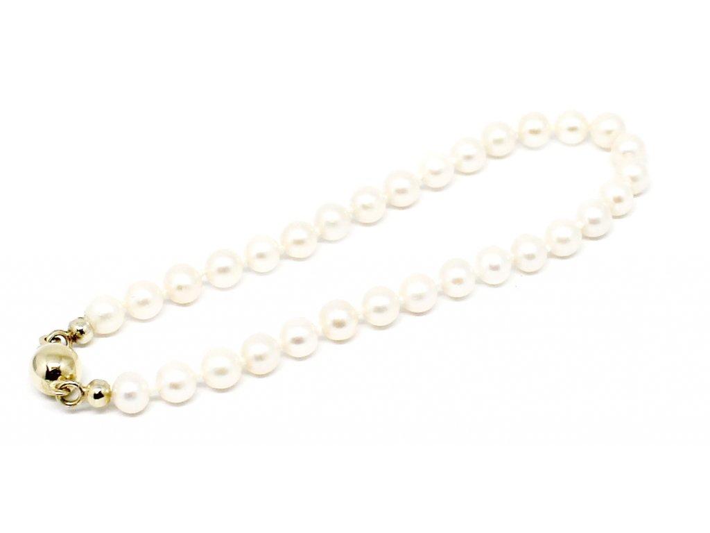 Perlový náramek sladkovodní perly 18 cm