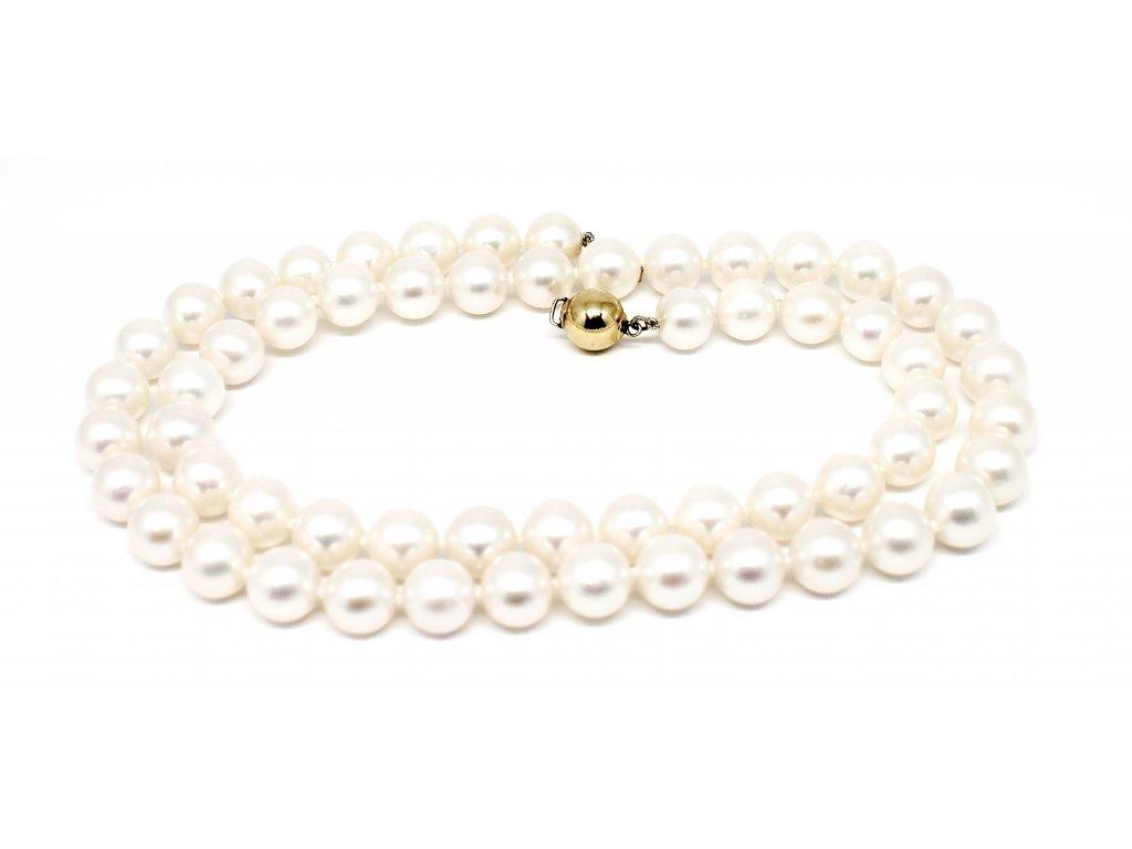 Perlový náhrdelník sladkovodní perly 50cm