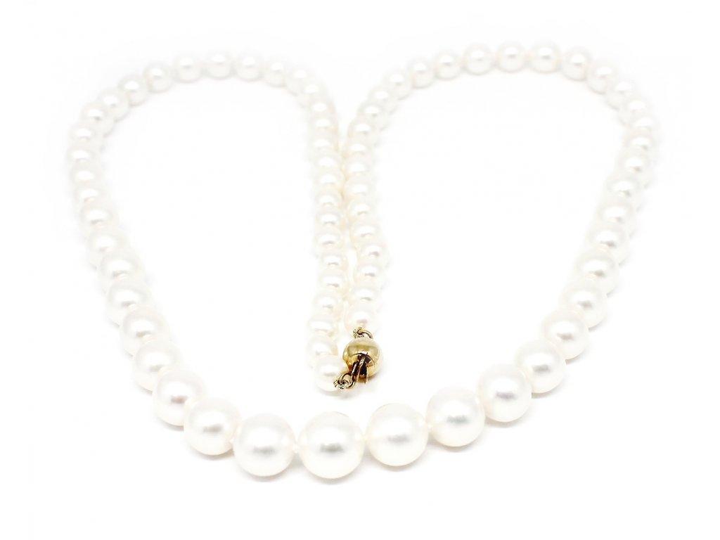 Perlový náhrdelník kónický sladkovodní perly 38/45cm