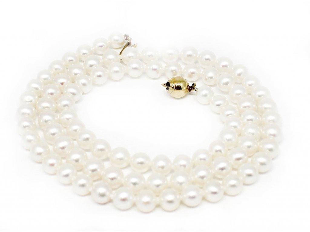 Perlový náhrdelník sladkovodní perly 42/45cm
