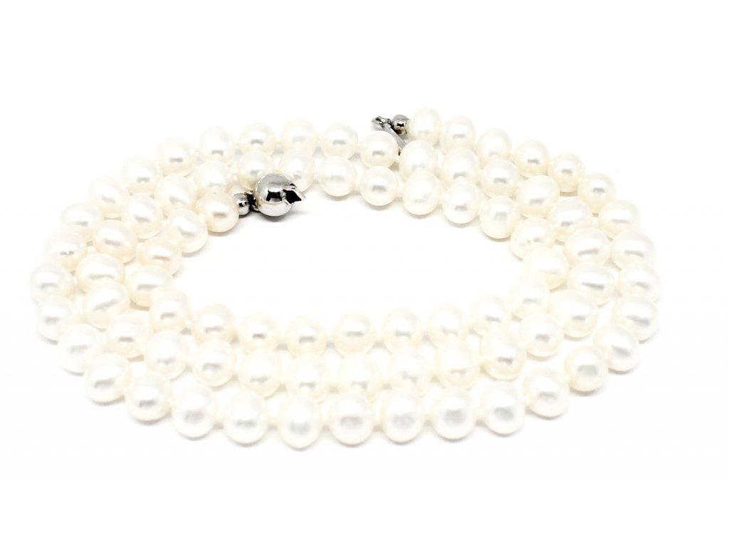 Perlový náhrdelník sladkovodní kultivované perly 45/50cm