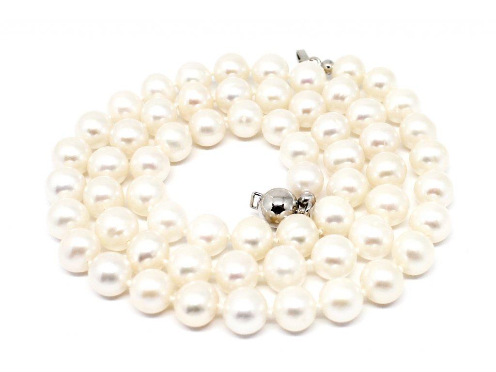 Perlový náhrdelník sladkovodní perly 45/50cm