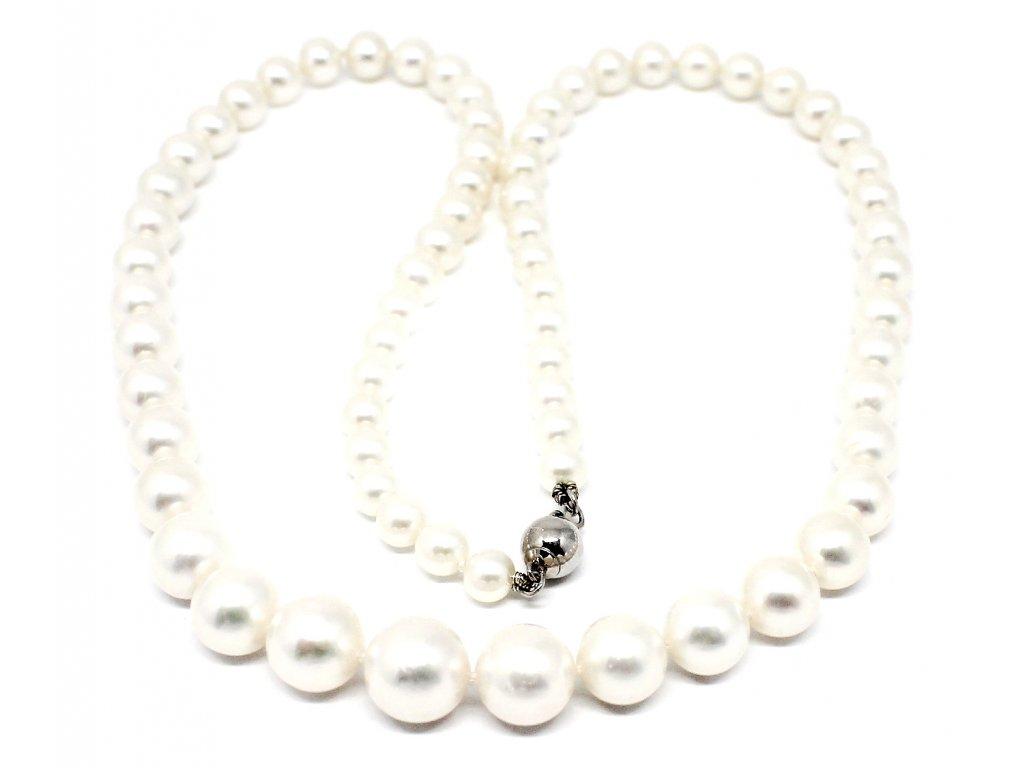 Perlový náhrdelník kónický sladkovodní perly 42 cm