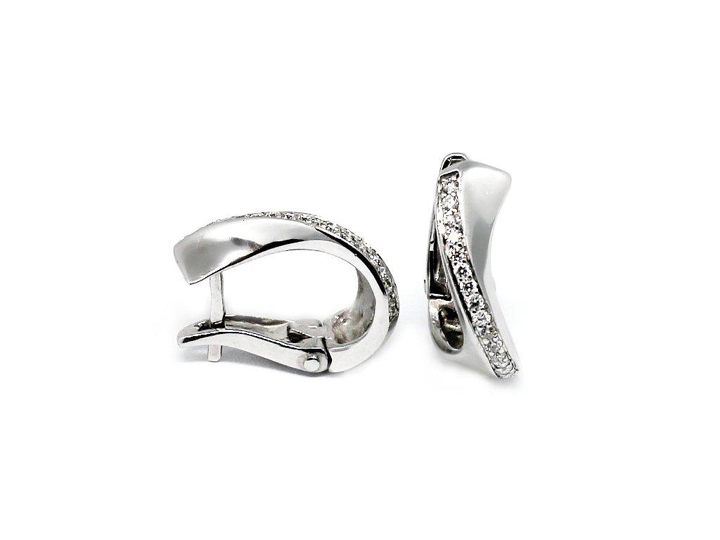 Diamantové náušnice bílé zlato Menkar 0,27ct
