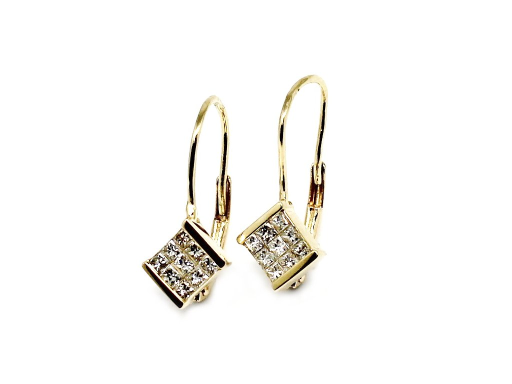 Diamantové náušnice 0,35ct