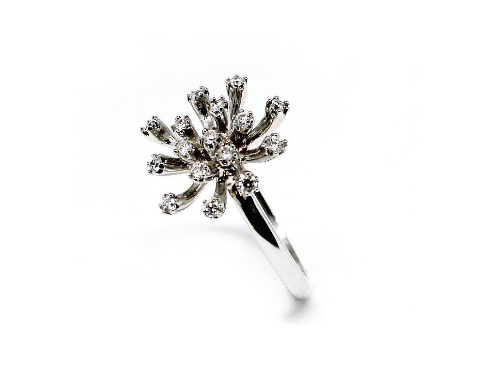 Luxusní diamantový prsten ALO bílé zlato 0,48ct
