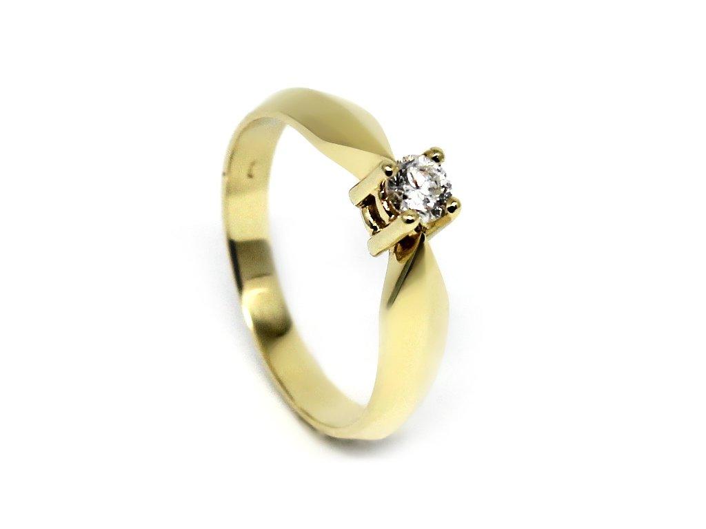 Diamantový prsten 0,135ct Viktorie