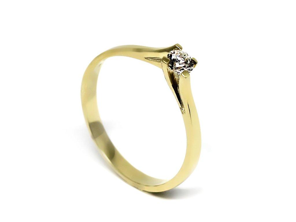 Diamantový prsten 0,20 ct Tara