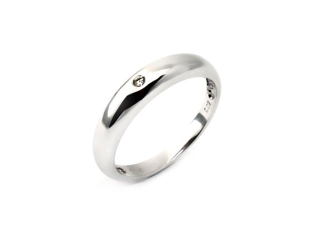 Alo diamantový prsten 0,02ct Nikol