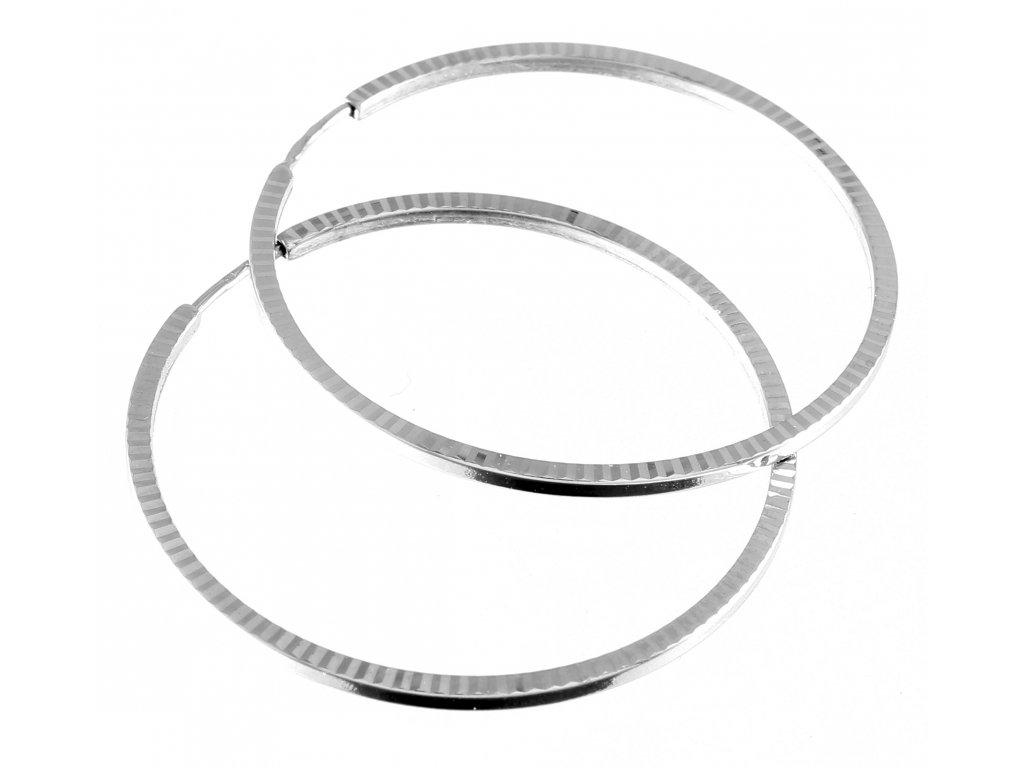 Zlaté náušnice kruhy z bílého zlata 30mm