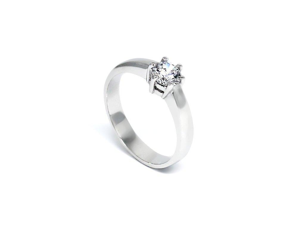Zlatý prsten se zirkonem zásnubní Gita